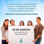 Feliz dia nacional do voluntariado