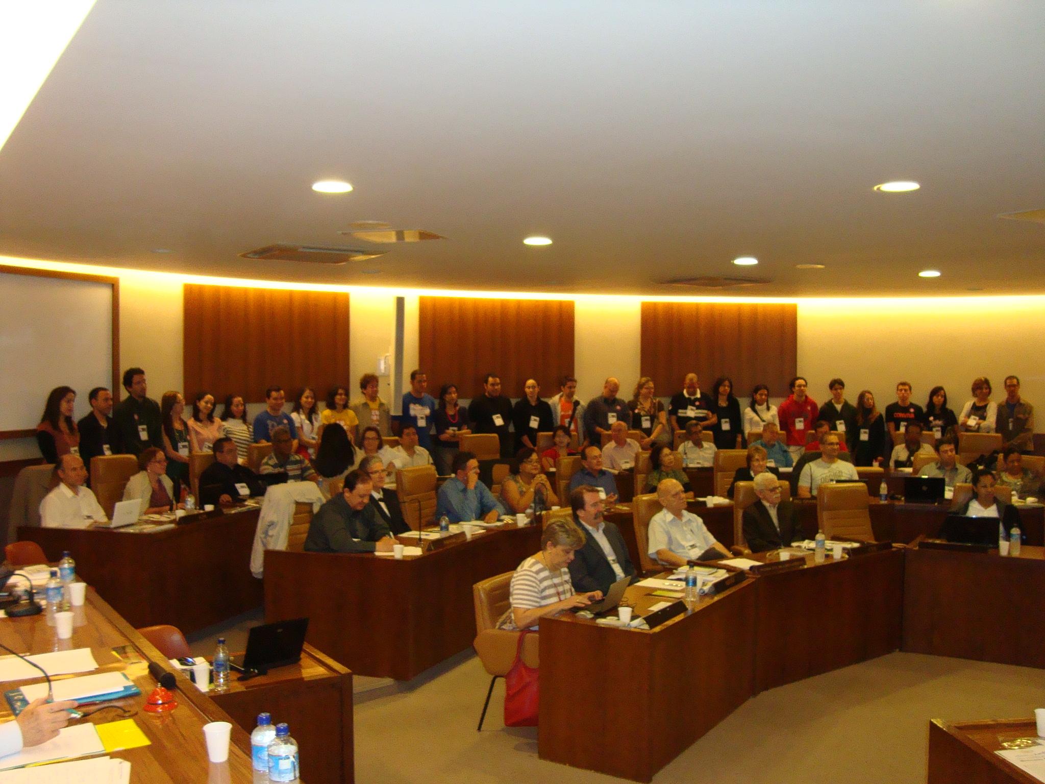 20150722 - qua - Antonio Cesar - Histórico CONBRAJEs - CFN_Parte do Plenário e Visita Jovens FEEGo