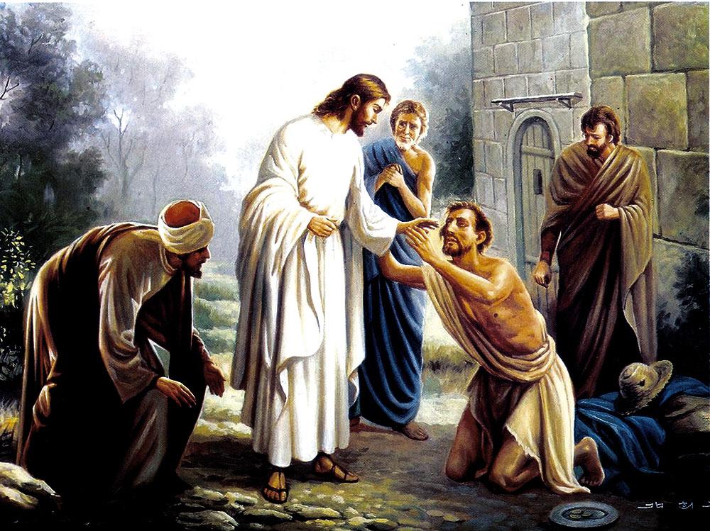 Jesus curando